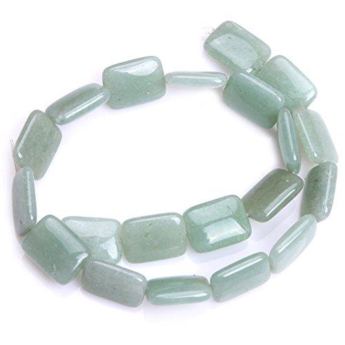 e Semi Precious Gemstone Beads for Jewelry Making Strand 15'' (15x20mm/flat rectangle) (Flat Rectangle Bead Strand)