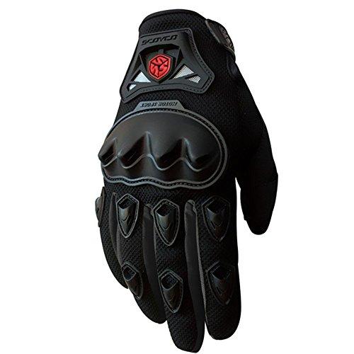 Scoyco MC29 Men Motorcycle Gloves (M, Black)