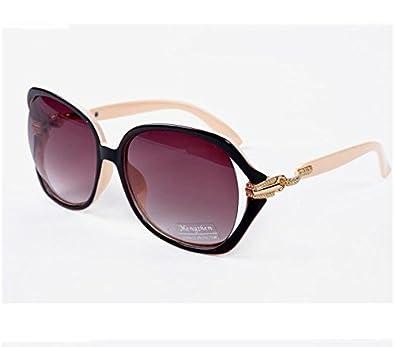 YKQJING Caja grande UV protección gafas de sol famosas gafas ...