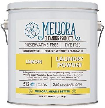 Productos de limpieza Meliora en polvo, 500 cargas HE (250 cargas ...