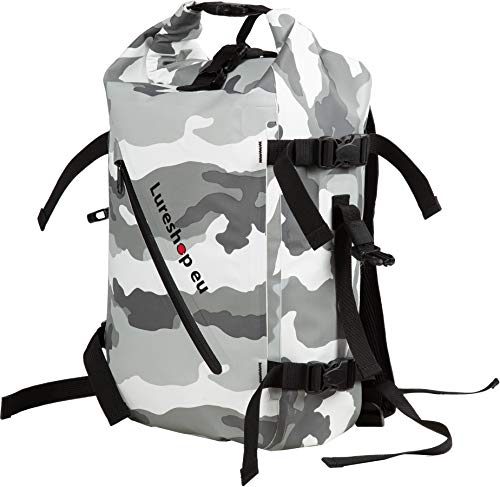 LURESHOP.EU RollTop Backpack Waterproof 20L Dry Bag Airtight 3-Layer 500D PVC Tarpaulin Double Padded Shoulder Straps