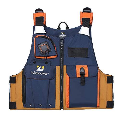 Kylebooker Fly Fishing Vest Kayak Fishing Life Jacket Men Breathable Safety Waistcoat Survival Utility Vest PFD