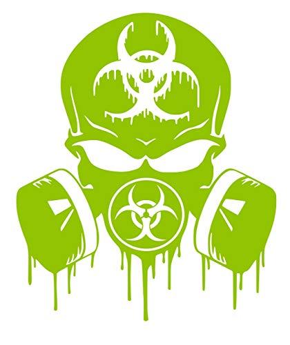 UR Impressions LGrn Skull Dripping Biohazard Respirator Decal Vinyl Sticker Graphics for Cars Trucks SUV Vans Walls Windows Laptop|Lime Green|5.5 X 5 inch|URI349-LG (Laptops Green Lime)