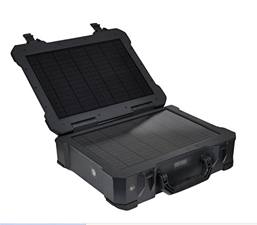 Risen Portable, Waterproof, Eco-friendly, Energy-efficient BX001 High Technology All-in-One Solar Power Energy System/Case for Home Use, Military, Travel, Outdoor Activities, Emergency and Disaster Preparedness - Black Color