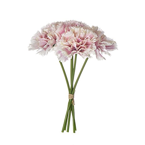 Buy Asan Artificial Flowers Fake Silk Carnations Bridal Bouquet Plastic Flower Arrangement Suitable For Mother S Day Birthday Weddings Anniversary Party Home Garden Decor Online At Low Prices In India Amazon In