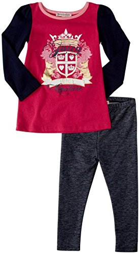 Juicy Couture Girl's Graphic Tunic Set, Sweet Raspberry, 5