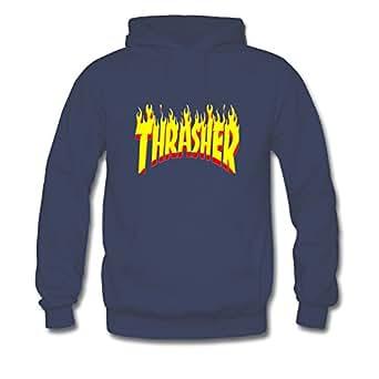 Thrasher Flame Hoodies - Sudadera - para niño Azul Large: Amazon.es: Ropa y accesorios