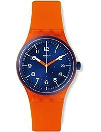 Swatch Men's Sistem51 SUTO401 Orange Silicone Automatic Watch