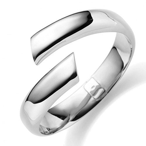 13 Mm les bracelets bracelet en or blanc 585 lisse brillant