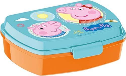 Peppa Pig Caja Merienda | Rectangular Caja de Desayuno | 17 x 12 x ...