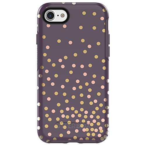 OtterBox SYMMETRY SERIES Case for iPhone 8 & iPhone 7 (NOT Plus) - Retail Packaging - CONFETTI (PURPLE/CONFETTI GRAPHIC) from OtterBox