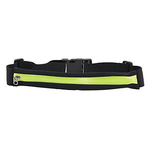 Foxpic Sport Tasche Hüfttasche Gürteltasche Bauchtasche mit Reißverschluss Multifunktion für Handy Grün