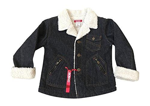 Bongo Denim Jacket Coat W/ Faux Sheepskin Toddler Size L Large 8 - 10 Black ()