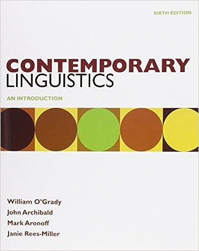 Amazon contemporary linguistics 6e study guide 9780312618513 contemporary linguistics 6e study guide sixth edition fandeluxe Images
