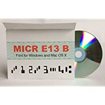 MICR font Windows and Mac OS X - MICR E13B TrueType and OpenType PostScript format. For Windows, macOS and Linux. Best quality MICR Font.