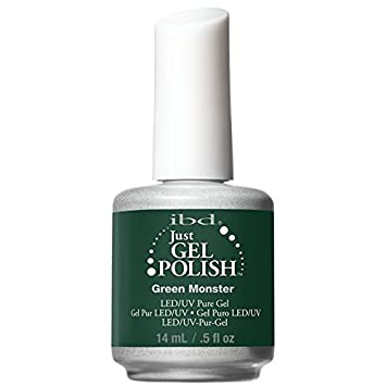 Amazon.com : IBD Just Gel Nail Polish, Green Monster, 0.5 Fluid ...
