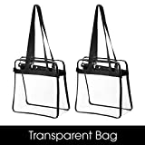 "Bag Boss Clear Tote Bag NFL & PGA Stadium Approved - Shoulder Strap and Zipper Closure Great For Games, Sports & Work (12"" X 12"" X 6"")"