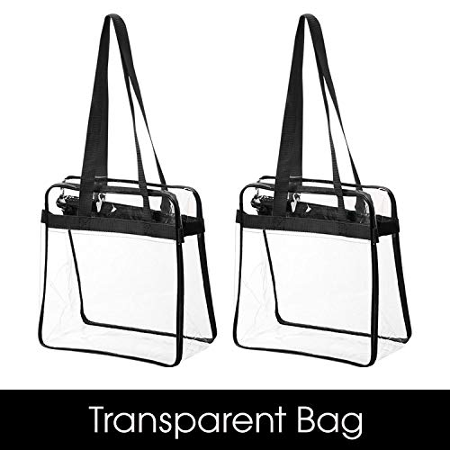"Bag Boss Clear Tote Bag NFL & PGA Stadium Approved - Shoulder Strap and Zipper Closure Great For Games, Sports & Work (12"" X 12"" X 6"") by Bag Boss"