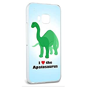 Snap On Protective Slim Hard Case for HTC One M9 Dinosaur Designs - Apatosaurus - I Love Heart