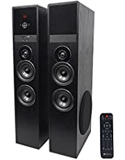 """Rockville TM80B Bluetooth Home Theater Tower Speaker System+(2) 8"""" Subwoofers!"""