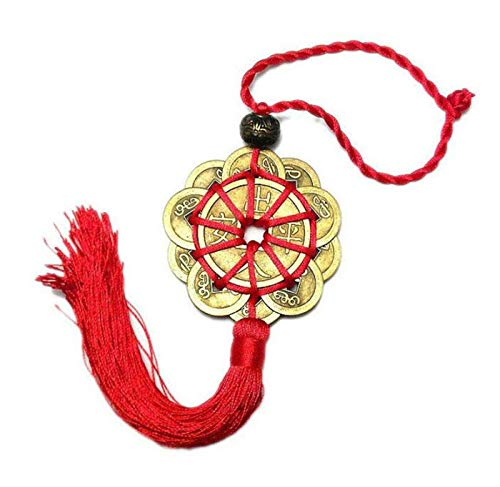 Ancient Good Luck Charms - EatingBiting(R) Red String Brass Chinese Feng Shui Coins 10 Lucky Charm Ancient Copper Ching Coins for Good Luck & Wealth Success Chinese Knot Lucky Coins Feng Shui Coins Fortune Coin