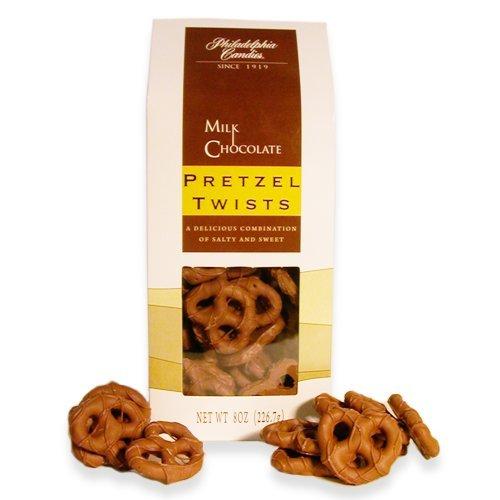 Philadelphia Candies Milk Chocolate Covered Mini Pretzels Gift Bag