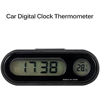 AOZBZ Car Clock, 2 in 1 Large LCD Display Car Digital Clock with Thermometer,Use for Car Dashboard/Home/Office (ONLY Support Celsius Degrees)