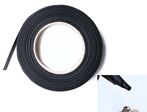 Shapenty 2:1 Black Heat Shrink Tubing Wire Wrap Cable Sleeve Electric Insulation Connection Shrinkable Tube, 25mm Diameter, 5 Feet/1.5 Meters