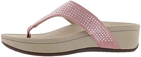 Vionic Women's Naples Platform Sandal – Toe Post Sandals with Concealed Arch Support
