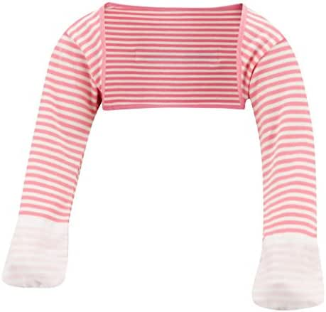 ScratchSleeves   Baby Girls' Stay-On Scratch Mitts Stripes