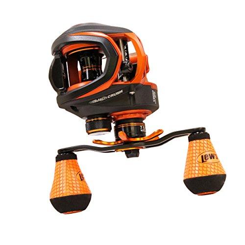 Lews Fishing MC1SH Mach Crush Speed Spool SLP Series, 7.5: 1 Gear Ratio, 30 Retrieve Rate, 9+1 Bearings, Right Hand