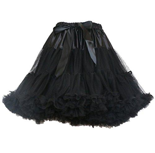 Adulte Jupe Classique Petticoat Fille Pettiskirt Noir Tutu Danse Froufrou Tulle Jupes Femme Bubble Jupon Princesse Tutu Ruffle Deguisement Tulles Bouffante Jupe Dguisement Ballet TXqvfw