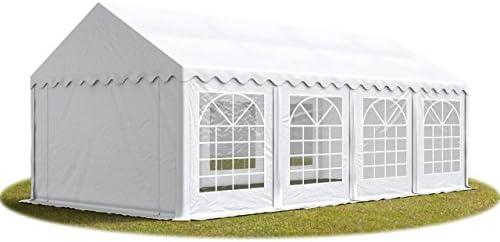 TOOLPORT Carpa para Fiestas Carpa de Fiesta 4x8 m - ignífugo Carpa de pabellón de jardín 500g/m² Lona PVC en Blanco Impermeable: Amazon.es: Jardín