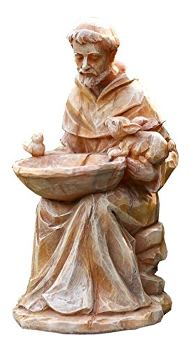 St. Francis with Bird Feeder Garden Statue - Sitting