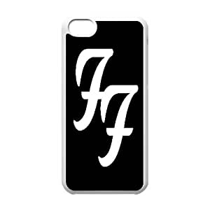 iPhone 5c Cell Phone Case White Foo Fighters Flqd