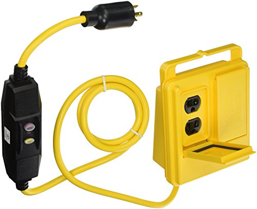 Southwire 2846 Shock Shield GFCI Outlet Box, Safety Yellow