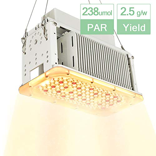 Aceple Full Spectrum Sunlike White LED Grow Light 600W Equal, Waterproof Plant Growing Lamp, 2x2ft Coverage Plant Light for Gardening, Grow Tent, Houseplant, Seedling Veg Flowering
