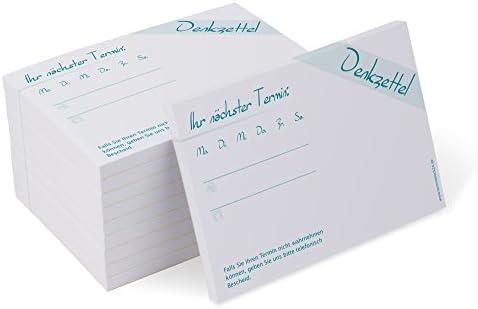 Terminblock Classic #1 mint (10 Blöcke) je 50 Terminzettel für Ärzte, Physio, Massage, Kliniken, neutral