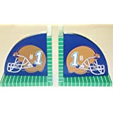 Brown Football Helm Bookend Set by Beriwinkle
