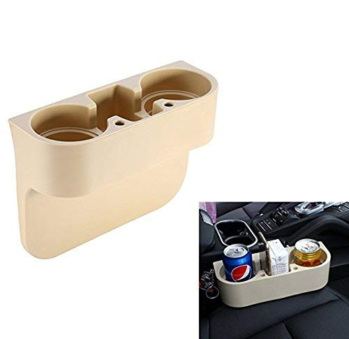 Beige Accessory Universal ABS Car Mount Drink Bottle Cup Holder Stand Drink Rack