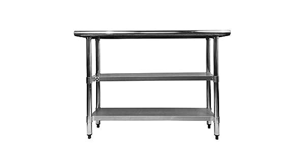 Amazon.com: Acero inoxidable Prep mesa de trabajo 18 x 48 ...