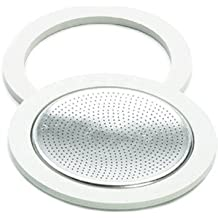 Bialetti Brikka Aluminum Replacement Parts Gasket and Filter Set, 2 Cup