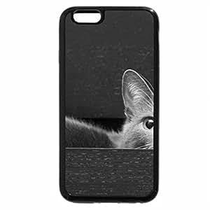 iPhone 6S Plus Case, iPhone 6 Plus Case (Black & White) - Cute cat