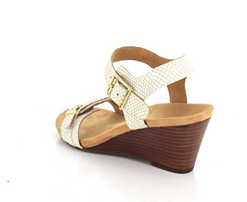 Noble Sandals Laurie 382 Snake Vionic Leather White Womens qFzTwT