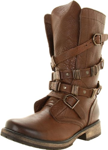 Amazon.com | Steve Madden Women\'s Bekket Ankle Boot, Brown Leather ...
