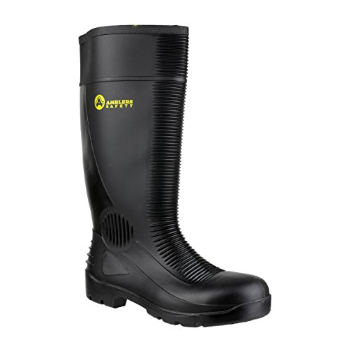 Amblers Safety FS100 Unisex Steel S5 SRA Safety Wellington Boots Black 42