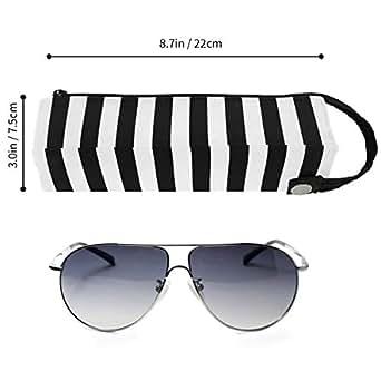 Amazon.com: Estuche para gafas con rayas blancas y negras ...