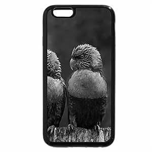 iPhone 6S Plus Case, iPhone 6 Plus Case (Black & White) - Little birds after the rain