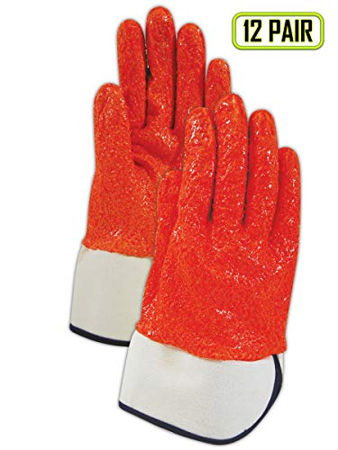 (Magid Glove & Safety 1591ORKV8 Magid 1591ORKV Kevlar Blend Gloves with Full Nitrile Coating - Cut Level 5, 10, Hi/Vis, 8 (Pack of)