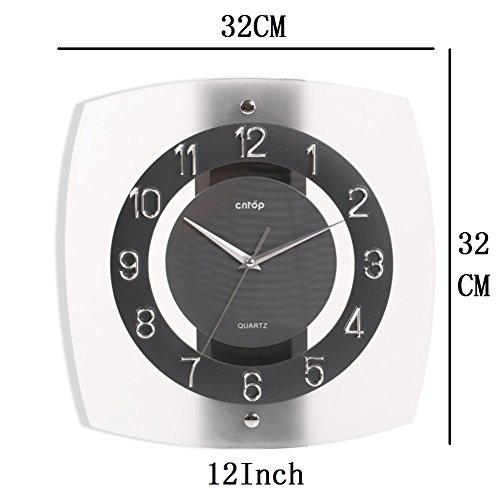 Wall Clock modern Quartz quiet decoration not refined of health in Arab figures-a 12inch by gerewe (Image #4)
